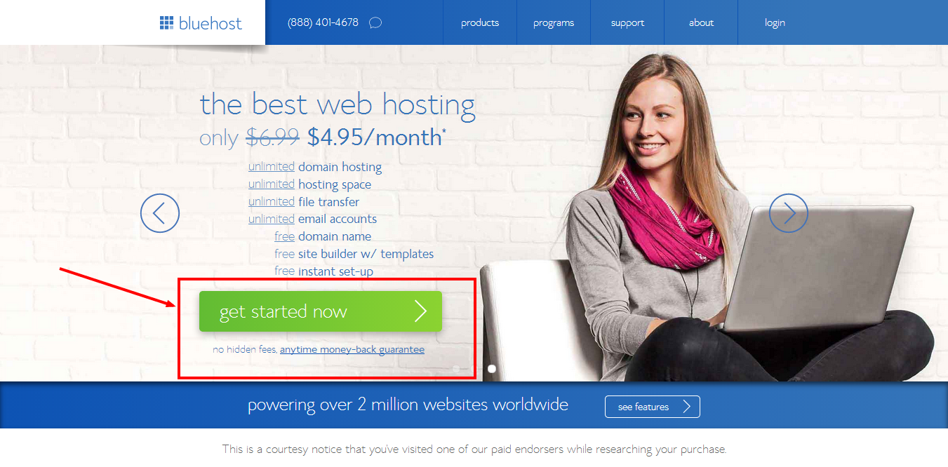 create a WordPress blog on bluehost